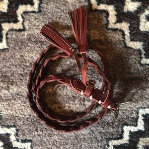 Madewell leather braided belt size xs